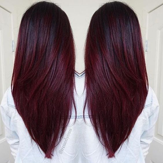 Long Hair Styles Color Straight
